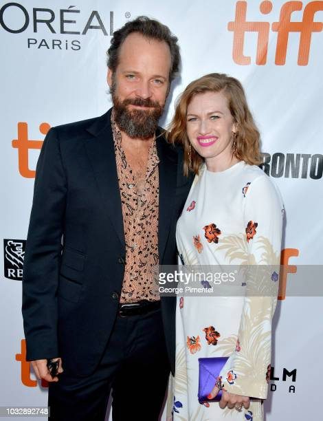 """Peter Sarsgaard and Mireille Enos attend the """"The Lie"""" premiere during 2018 Toronto International Film Festival at Roy Thomson Hall on September 13,..."""