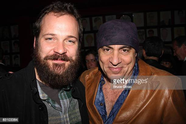 Peter Sarsgaard and Steven Van Zandt pose at The Opening Night After Party for The Seagull at Sardi's on October 2 2008 in New York City New York