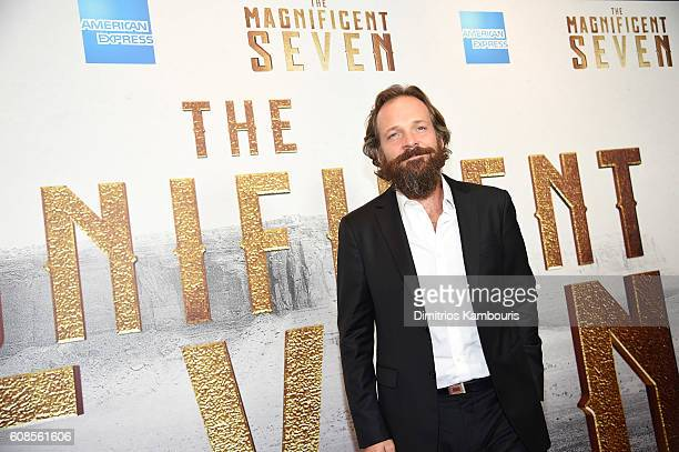 Peter Sarsgaard attends The Magnificent Seven premiere at Museum of Modern Art on September 19 2016 in New York City