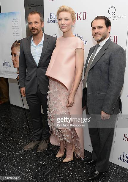 Peter Sarsgaard Cate Blanchett and Michael Stuhlbarg attend the Blue Jasmine New York Premiere at the Museum of Modern Art on July 22 2013 in New...