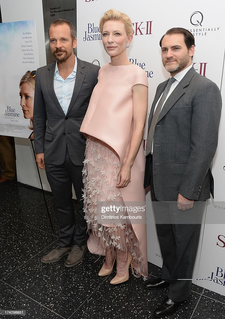 Peter Sarsgaard, Cate Blanchett and Michael Stuhlbarg attend the 'Blue Jasmine' New York Premiere at the Museum of Modern Art on July 22, 2013 in New York City.
