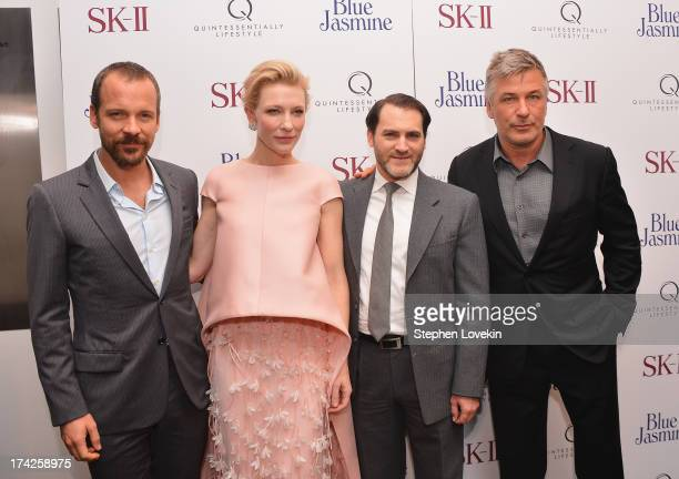 Peter Sarsgaard Cate Blanchett Michael Stuhlbarg and Alec Baldwin attend the Blue Jasmine New York Premiere at the Museum of Modern Art on July 22...