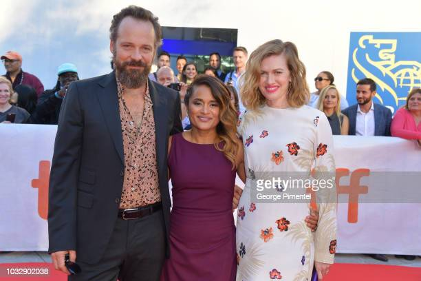 Peter Sarsgaard Veena Sud and Mireille Enos attend the 'The Lie' premiere during 2018 Toronto International Film Festival at Roy Thomson Hall on...