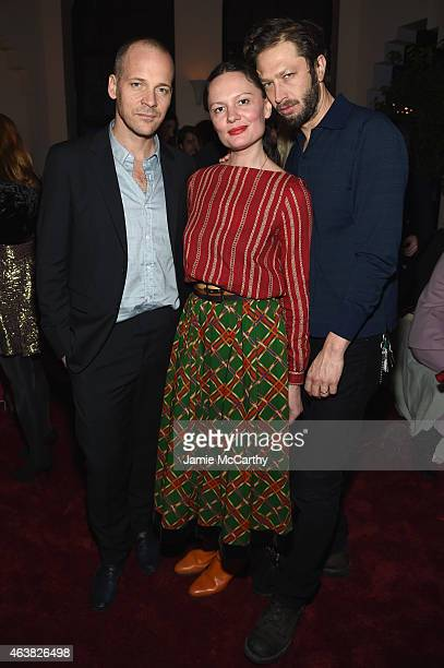 Peter Sarsgaard Yelena Yemchuk and Ebon MossBachrach attend the Miu Miu Women's Tales 9th Edition 'De Djess' screening on February 18 2015 in New...