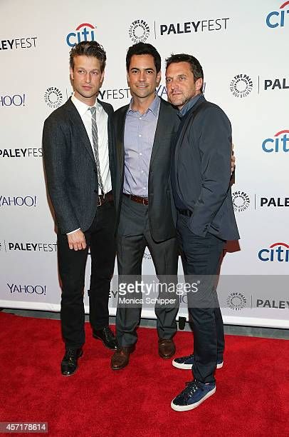 Peter Scanavino Danny Pino and Raul Esparza attend 2nd Annual Paleyfest New York Presents 'Law Order SVU' at Paley Center For Media on October 13...