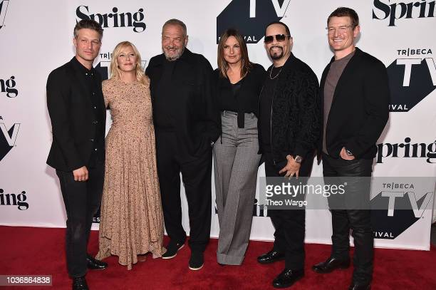 Peter Scanavino Kelli Giddish Dick Wolf Mariska Hargitay IceT Philip Winchester attends the Law Order SVU 20th Anniversary Celebration the 2018...