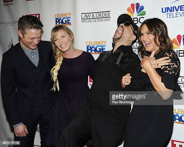 Peter Scanavino Kelli Giddish IceT and Mariska Hargitay attend TV Guide Celebrates Mariska Hargitay at Gansevoort Park Avenue on January 11 2017 in...