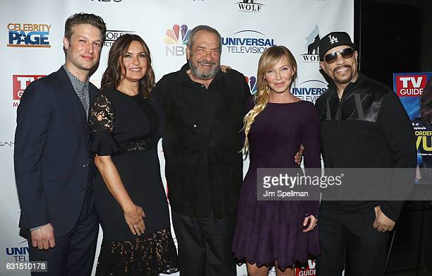 Peter Scanavino Mariska Hargitay TV producer Dick Wolf actors Kelli Giddish and IceT attend the TV Guide celebrates Mariska Hargitay at Gansevoort...