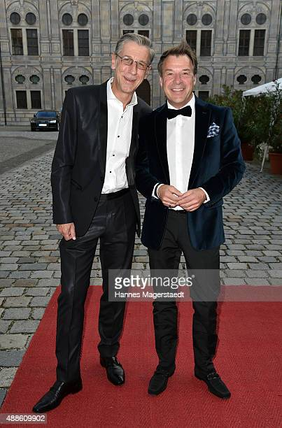 Peter Schaefer and Patrick Lindner during the 'Jose Carreras Foundation Celebrates Its 20th Anniversary' at Kaisersaal on September 16 2015 in Munich...
