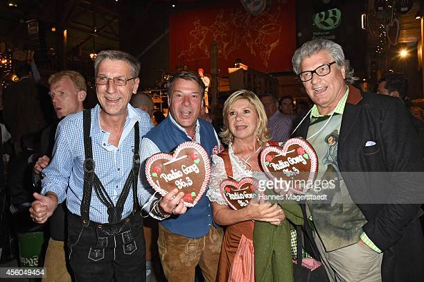 Peter Schaefer Patrick Lindner Marianne and Michael Hartl attend the Radio Gong 963 Wiesn at Weinzelt during Oktoberfest at Theresienwiese on...