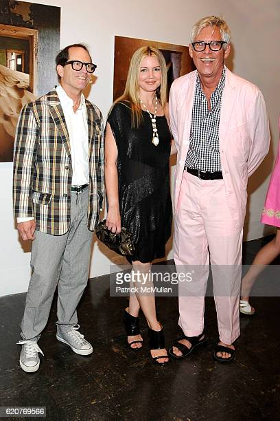 Peter Schlesinger Kelly Sugarman and Eric Boman attend The Board of Trustees of The PARRISH ART MUSEUM Host The Midsummer Party Honoring ALVIN...