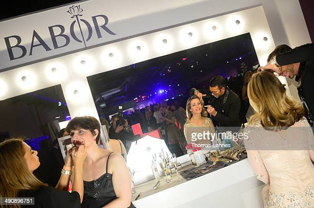 Peter Schmidinger and Bettina Cramer attend Babor at the Duftstars Awards 2014 at arena Berlin on May 15 2014 in Berlin Germany