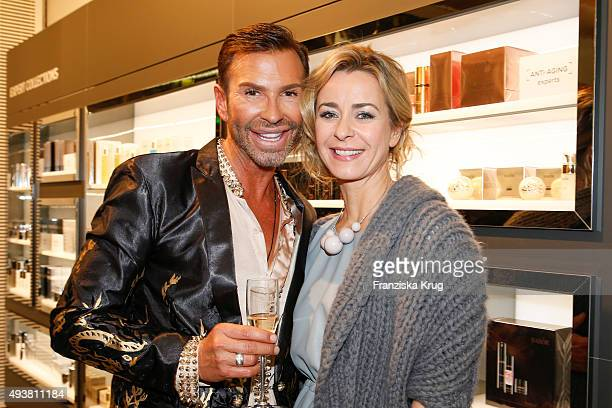 Peter Schmidinger and Bettina Cramer attend the BABOR Opening Cocktail on October 22 2015 in Berlin Germany