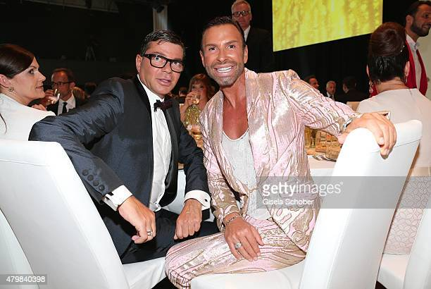 Peter Schmidinger and his partner Dieter Englert during the 20 year anniversary event of the home shopping channel HSE24 at Ziegelei on July 7 2015...
