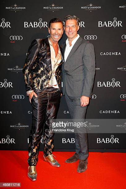 Peter Schmidinger and Michael Schummert attend the BABOR Opening Cocktail on October 22 2015 in Berlin Germany