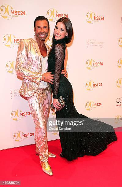 Peter Schmidinger Beate Igel during the 20 year anniversary event of the home shopping channel HSE24 at Ziegelei on July 7 2015 in Ismaning Germany