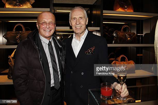 Peter Schmidt and Peter Preller At Bally Store Opening Event at the Neuer Wall in Hamburg