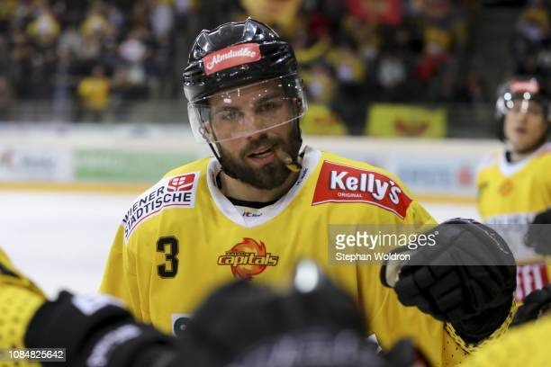 Peter Schneider of Vienna during the Vienna Capitals v EC VSV Erste Bank Eishockey Liga at Erste Bank Arena on January 18 2019 in Vienna Austria