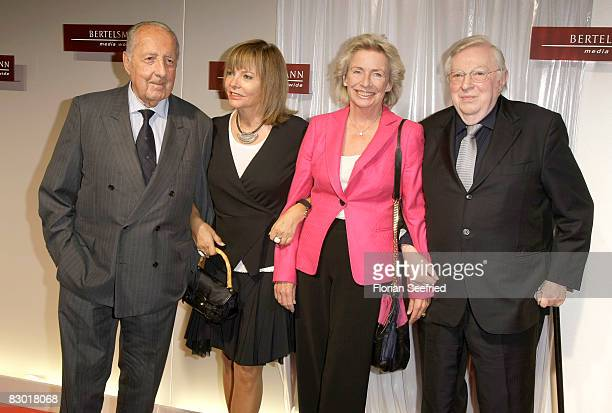 Peter SchollLatour with wife Eva and Angelika Jahr with Rudolf Stilcken attend the Bertelsmann Party 2008 at 'Bertelsmann Unter den Linden 1' on...