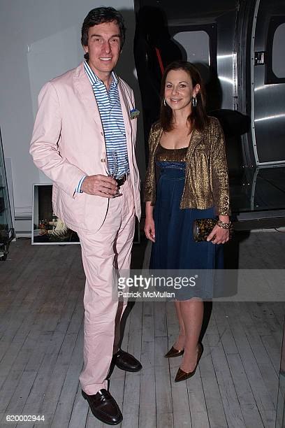 Peter Schultz and Bettina Zilkha attend CORA SHEIBANI Preview Party for the COPPER MOULD COLLECTION at Arts Corporation Studio on October 7 2008 in...