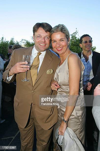 Peter Schwenkow And His wife Inga Griese Schwenkow On screen during summer festival in Berlin 280605