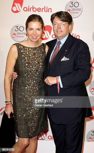 Peter Schwenkow and his wife Inga Griese-Schwenkow attend the Air Berlin 30th Birthday Party at Estrel Hotel on April 28, 2009 in Berlin, Germany.