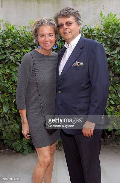Peter Schwenkow and Inga Griese Schwenkow attend the preview of the exhibitions 'Nathan Sawaya The Art Of The Brick' at Kulturcompagnie on May 11...