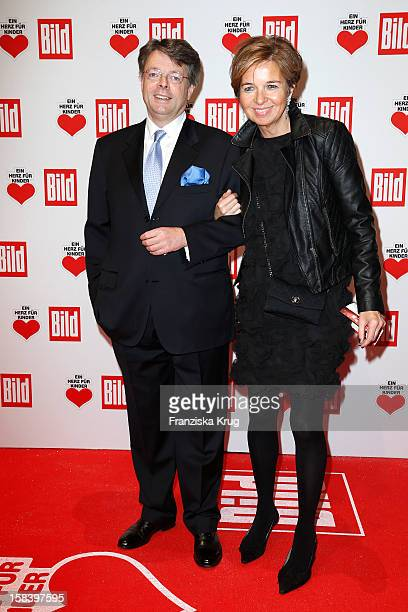 Peter Schwenkow and Inga GrieseSchwenkow attend the 'Ein Herz Fuer Kinder Gala 2012' on December 15 2012 in Berlin Germany