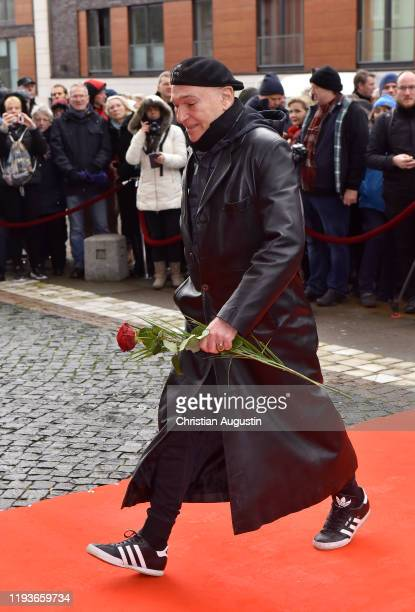 Peter Sebastian during the memorial service for Jan Fedder at Hamburger Michel on January 14 2020 in Hamburg Germany German actor Jan Fedder was...