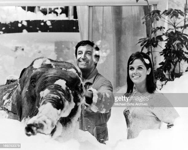 Peter Sellers and Claudine Longet fill the room with suds in a scene from the film 'The Party' 1968 Photo by United Artists/Getty Images