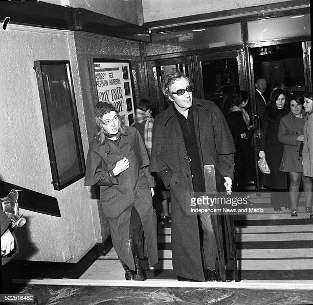 Peter Sellers and his wife arriving at the Supreme Cinema Talbot St Dublin to see the film 'Darling Lili'