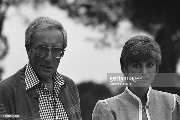 Peter Sellers and his wife Lynne Sellars at Cannes film festival in 1980