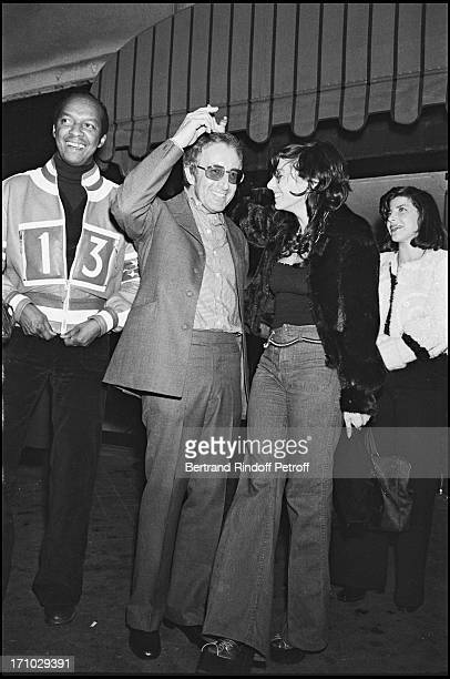 Peter Sellers and his wife Miranda Quarry after a party in Paris in 1972.