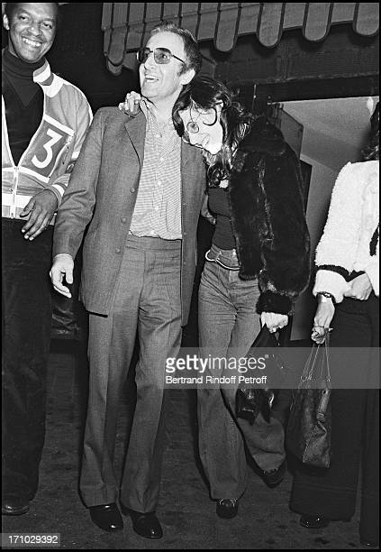 Peter Sellers and his wife Miranda Quarry after a party in Paris in 1972
