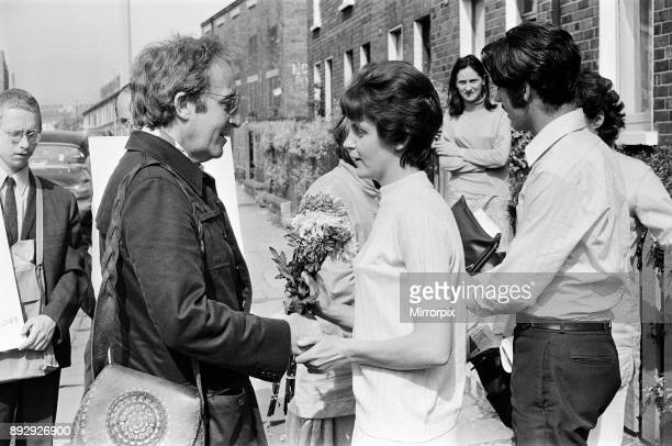 Peter Sellers and Swami Vishnu on a Peace Mission in Belfast Peter Meets Irene Gallagher mother of Angela Gallagher who was killed by a snipers...