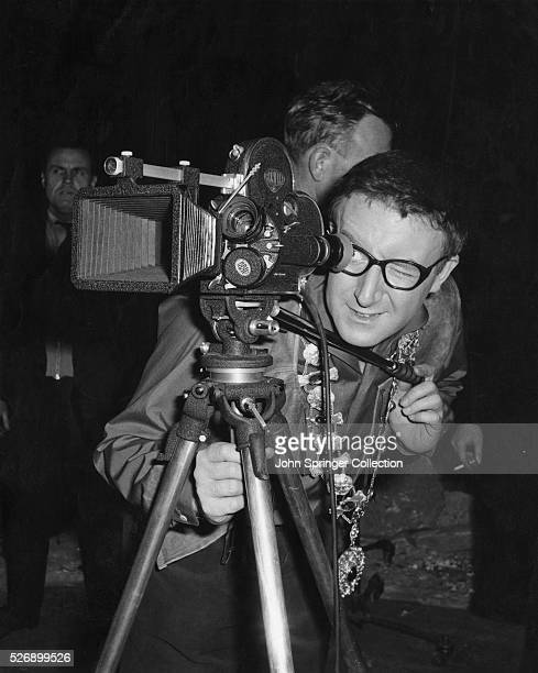 Peter Sellers during the filming of the 1959 movie The Mouse That Roared