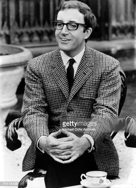 Peter Sellers sits for a candid portrait circa 1965 in Los Angeles California
