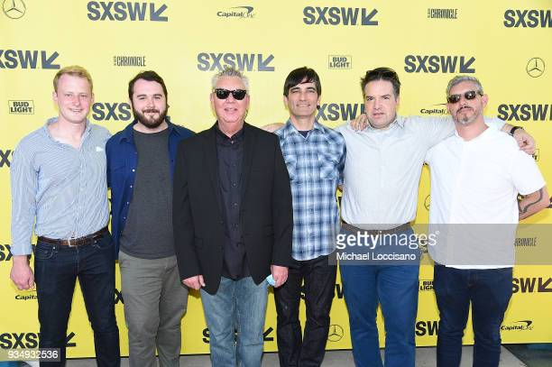 Peter Sharp Sack producers Gus Deardoff and Walter S Hall filmmaker Michael Tully and producers George Rush Jr and Ryan Zacarias attend the 'Don't...
