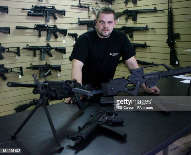 Peter Sharpe proprietor of the Go Tactical airsoft shop in Bray Co Wicklow Ireland