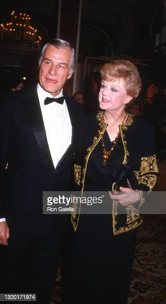 Peter Shaw and Angela Lansbury attend 42nd Annual Golden Globe Awards at the Beverly Hilton Hotel in Beverly Hills, California on January 26, 1985.