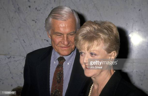 Peter Shaw and Angela Lansbury during 'Assassins' Benefit Opening Night in Los Angeles at Los Angeles Theater Center in Los Angeles California United...