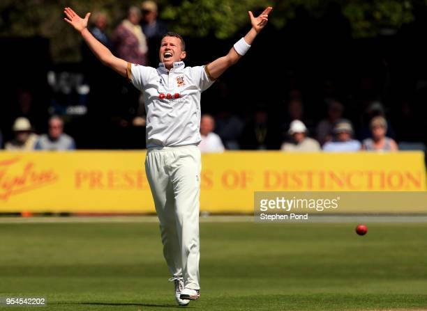 Peter Siddle of Essex celebrates a wicket during the Specsavers County Championship Division One match between Essex and Yorkshire at the Cloudfm...