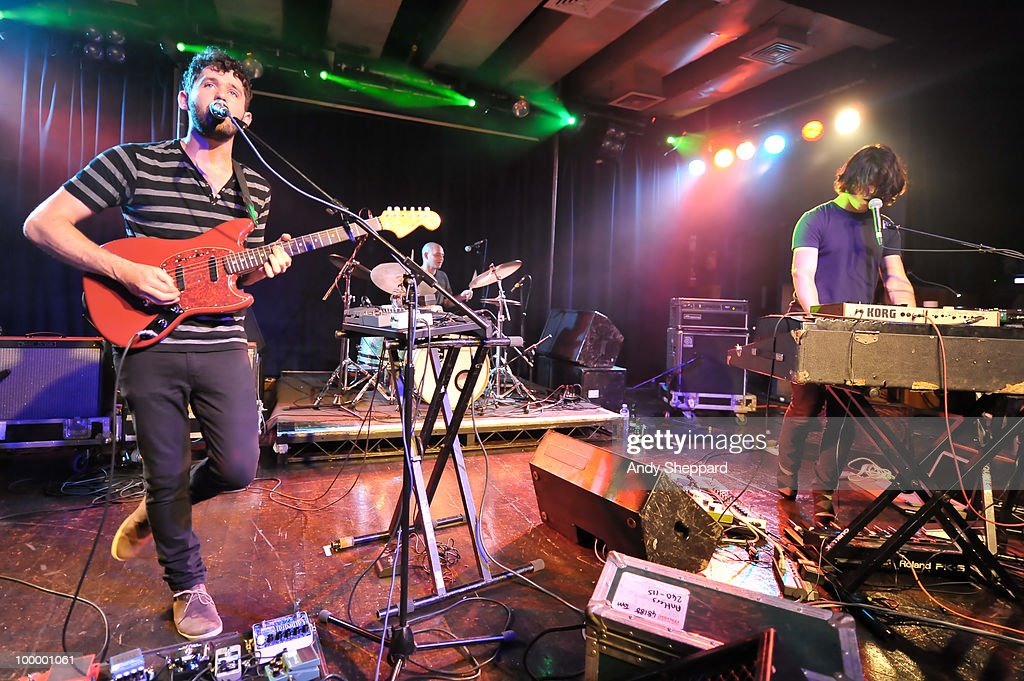 Peter Silberman, Michael Lerner and Darby Cicci of American indie rock band The Antlers performs on stage at The Scala on May 19, 2010 in London, England.