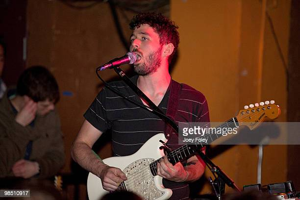 Peter Silberman of The Antlers performs at The Basement on April 16 2010 in Columbus Ohio