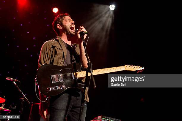 Peter Silberman of The Antlers performs on stage at the Hackney Empire on October 24 2014 in London United Kingdom