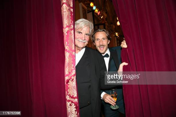 Peter Simonischek and David Rott during the Hessian Film and Cinema Award at Alte Oper on October 18, 2019 in Frankfurt am Main, Germany.