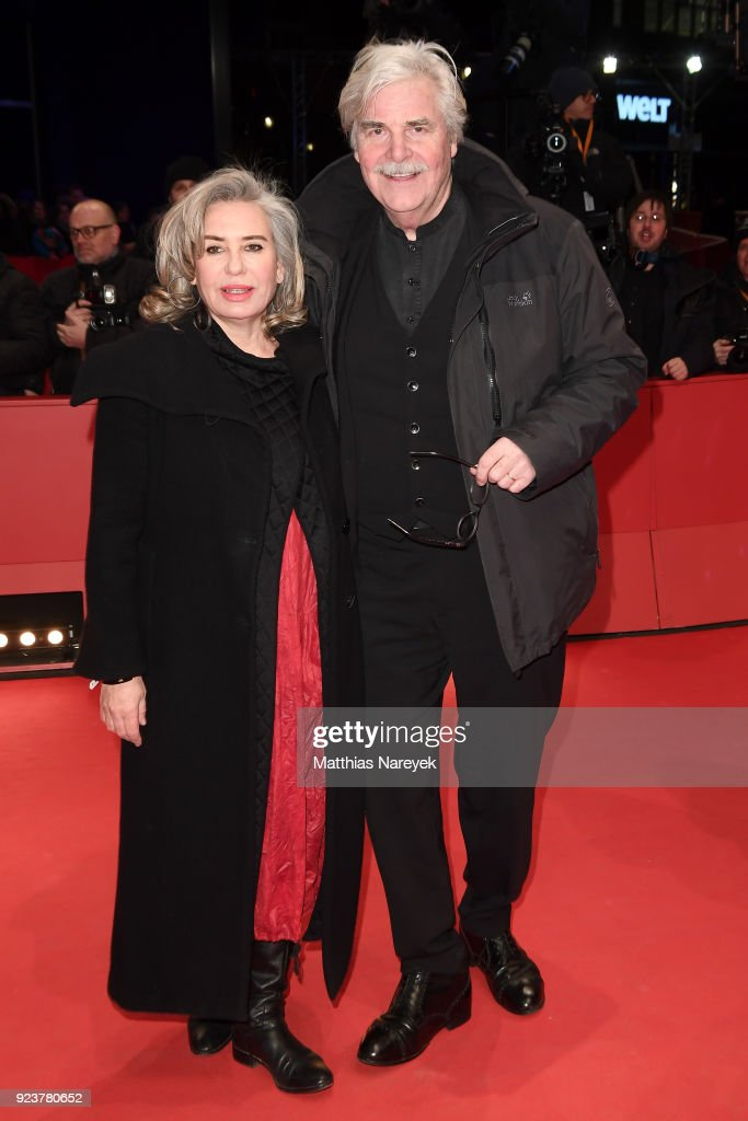 Peter Simonischek (R) and his wife Brigitte Karner attend the closing ceremony during the 68th Berlinale International Film Festival Berlin at Berlinale Palast on February 24, 2018 in Berlin, Germany.