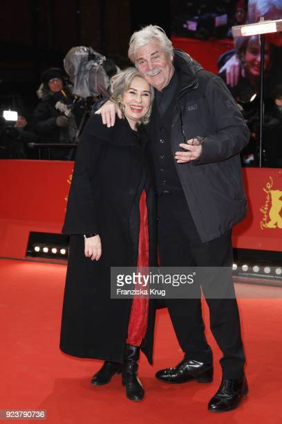 Peter Simonischek and his wife Brigitte Karner attend the closing ceremony during the 68th Berlinale International Film Festival Berlin at Berlinale...