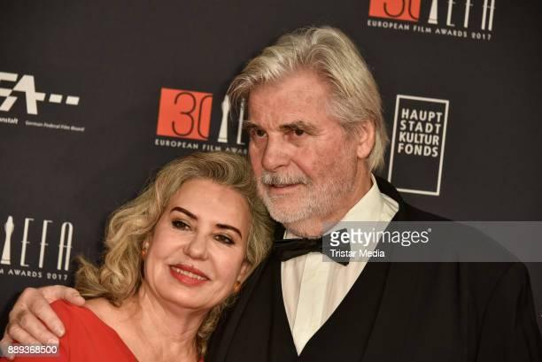 Peter Simonischek and his wife Brigitte Karner attend the European Film Awards 2017 on December 9 2017 in Berlin Germany