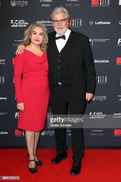 Peter Simonischek and his wife Brigitte Karner during the 30th European Film Awards 2017 at 'Haus der Berliner Festspiele' on December 9 2017 in...
